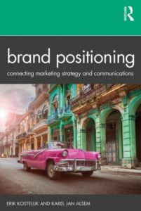 Cover of Alsem's book Brand Positioning